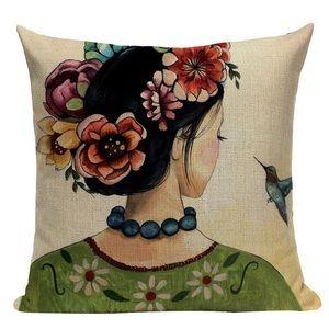 Frida Kahlo Artwork Throw Pillow Cover Hime Decor